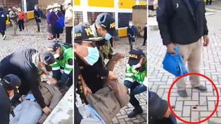 Elecciones 2021: Anciano se desmaya y se rompe la cabeza mientras esperaba en la cola