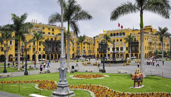 La celebración en homenaje por el bicentenario de la independencia será esta tarde en la Plaza de Armas de Lima. (Foto:GEC)