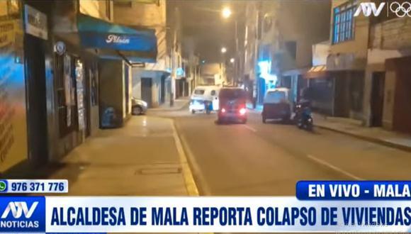 Sismo en Mala: reportan colapso de viviendas y personas accidentadas tras temblor de magnitud 6. (Foto: ATV)