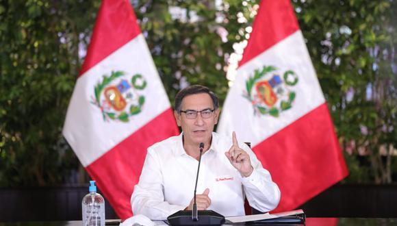 El presidente Martín Vizcarra resaltó que serán los efectivos de las FF.AA y la Policía los encargados del cumplimiento de las normas. (Foto: Presidencia)