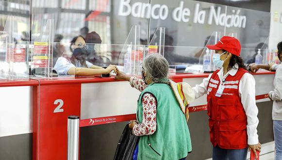 Más de 2.4 millones de beneficiarios del bono 600 soles ya cobraron el dinero desde que empezó el pago a hogares en febrero pasado. (Foto: GEC)