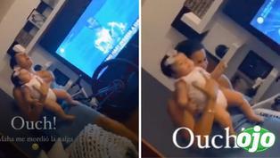Korina Rivadeneira sufre mordedura de su propio perro cuando celebraba el ingreso de Mario Hart a EEG | VIDEO