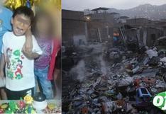 SJL: Niño de 6 años, que estaba solo con sus hermanitos en casa, muere en incendio   VIDEO