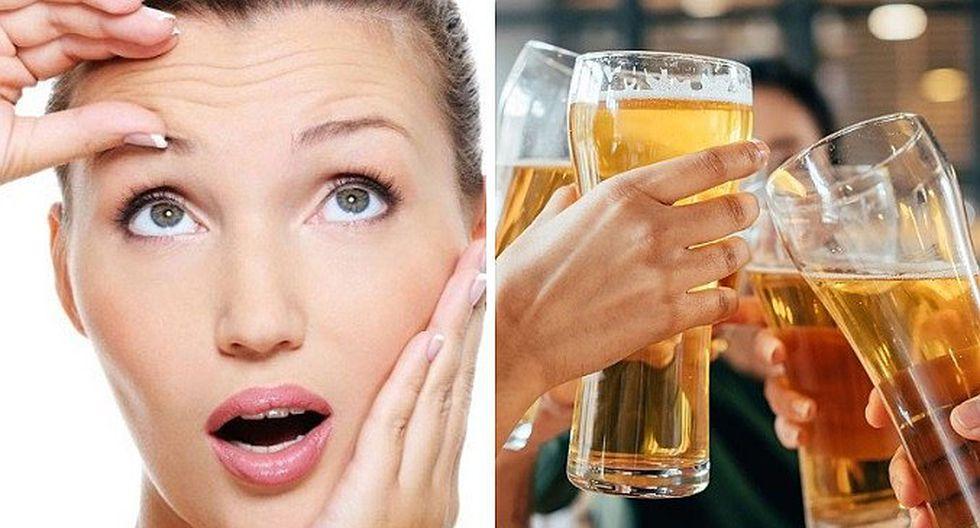 ¿Beber cerveza ayuda a combatir las arrugas?