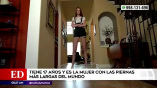 Récord Guinness: adolescente de 17 años tiene las piernas más largas del mundo