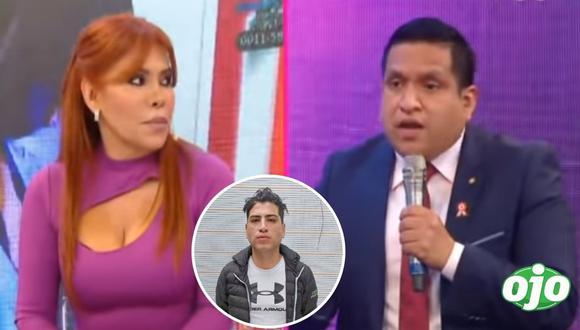 Magaly Medina en entrevista con  José Carlos Mejía, el abogado John Kelvin. (Foto: Captura ATV).