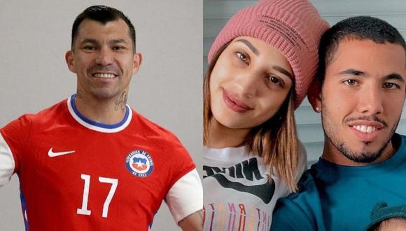 Se desató una polémica por la camiseta que Gary Medel le regaló a la esposa de Sergio Peña, Valery Revelo. (Foto: Instagram @valeryrevello / @gary_medel17)