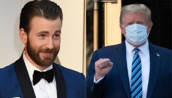 Chris Evans arremete contra Donald Trump luego que asegurara que no hay que temerle al COVID-19. (Foto: AFP)