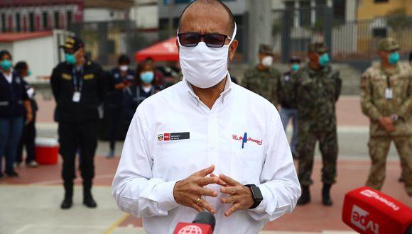 El ministro de Salud, Víctor Zamora, hizo un balance de los más de 100 días de cuarentena por la pandemia del coronavirus. (Foto: HugoCurotto/GEC)