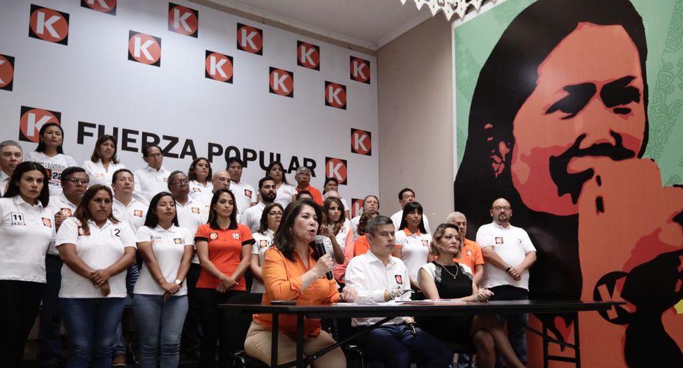 Martha Chávez explica por qué Keiko Fujimori no acompaña a sus candidatos al Congreso   Fotos: Ángela Ponce