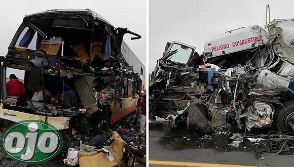 Nuevamente bus interprovincial de conocida empresa choca y deja varios muertos (FOTOS y VÍDEOS)