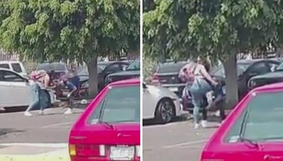 """Novia """"agarra de los pelos"""" a su pareja por supuesta infidelidad (VIDEO)"""