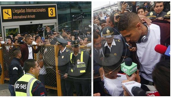 Paolo Guerrero: a diferencia de Jefferson Farfán, 'depredador' se dio baño de popularidad en aeropuerto (FOTOS)