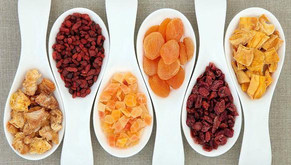 5 beneficios del consumo de frutas deshidratadas