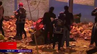 Camión se despistó y atropelló a cinco personas en Ventanilla