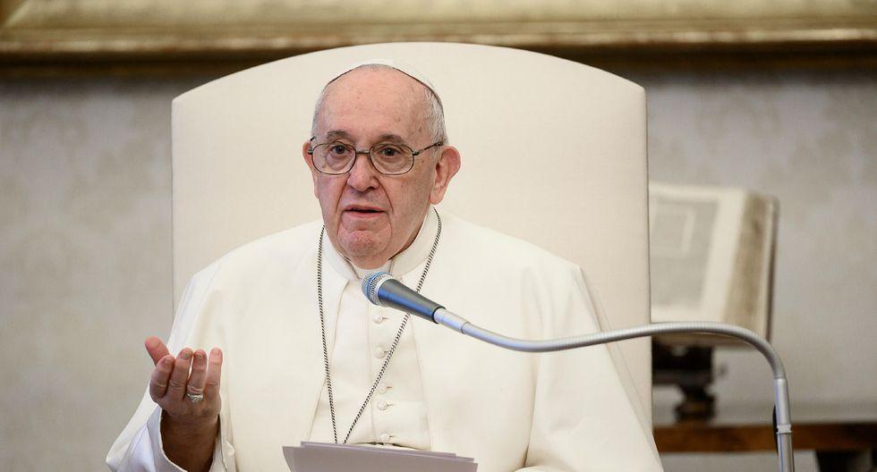 """""""Su Santidad expresó todo su cariño al pueblo peruano en estas circunstancias"""", mencionó la Presidencia del Perú. En la imagen, el papa Francisco. (AFP/Vatican Media)."""