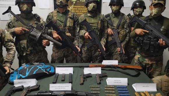Vraem: militares y policías se enfrentan a presuntos terroristas e incautan armas de guerra (Foto: Comando Conjunto de las Fuerzas Armadas)