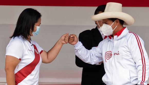 Los debates organizados por el JNE serán dos y no cuatro, y en uno participarán Pedro Castillo y Keiko Fujimori. (Foto: Archivo AFP/ César Bazán)