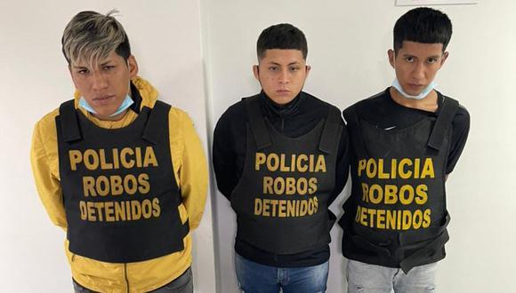 'Los Malditos de Villa Hermosa' confesaron dedicarse al robo de celulares. (GEC)
