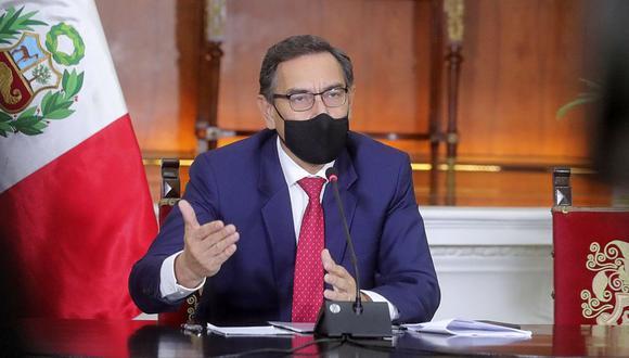 En los audios se escucha a Martín Vizcarra conversar con Karem Roca y Mirian Morales. (Foto: Presidencia Perú)
