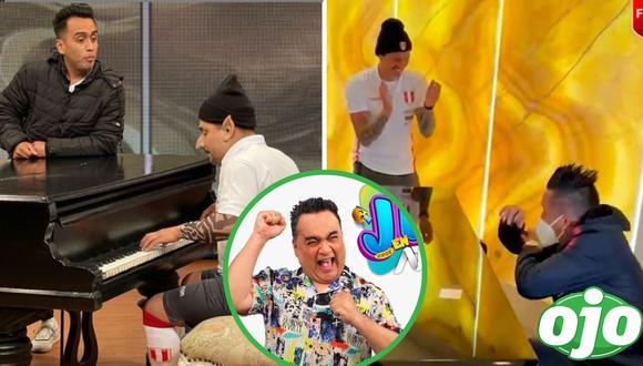 JB alista parodia de Lapadula tocando el piano con Cueva. Foto: (Captura/FPF | Instagram/@jbjorgebenavides)
