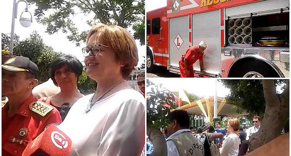 ¡Bomberos de Lince se benefician! Nancy Lange participa en entrega de moderna unidad (VIDEO)
