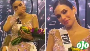 Miss Perú Janick Maceta rompe en llanto al no llevarse la corona en el Miss Universo | VIDEO