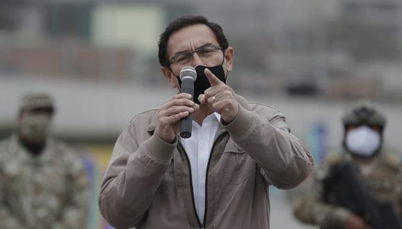 """Vizcarra indignado: """"Enfrentamos intereses que buscan desestabilizar el país"""" (Foto: Renzo Salazar / @photo.gec)"""