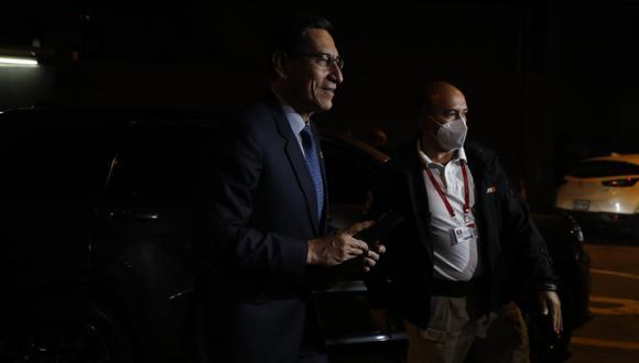 """""""Que el Ministerio Público determine qué fiscal investigue, con uno o con otro, nos es indiferente"""", señaló Vizcarra. (Foto: César Bueno / @photo.gec)"""