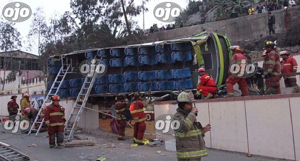 Cerro San Cristóbal: conductor de bus está detenido y tiene infracciones graves (FOTOS)