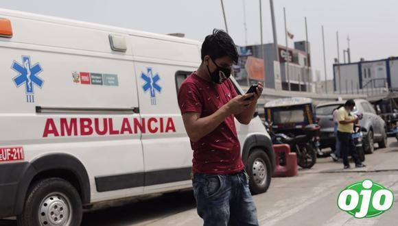 Defensoría advirtió que solo queda una cama de cuidados intensivos en Lima y Callao. (Leandro Britto / @photo.gec)
