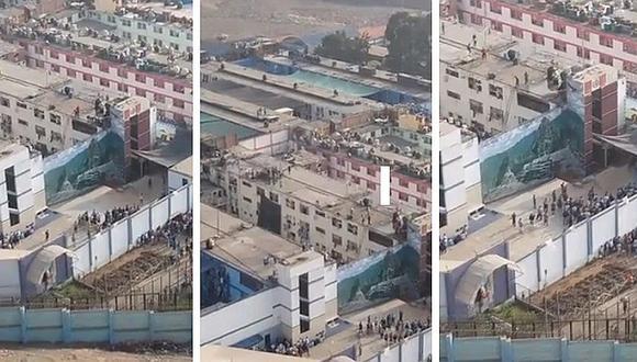 Penal de Lurigancho: presos se amotinan y ocasionan esto (VIDEO y FOTOS)
