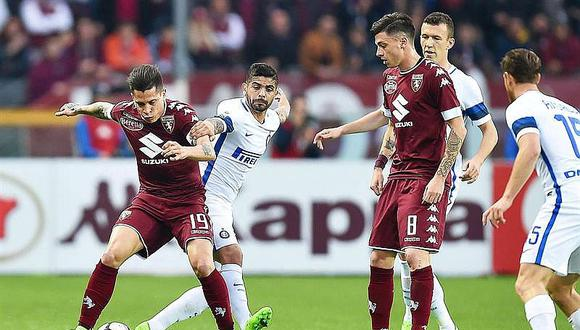 Serie A: Inter empata 2-2 ante Torino y se complica en Italia
