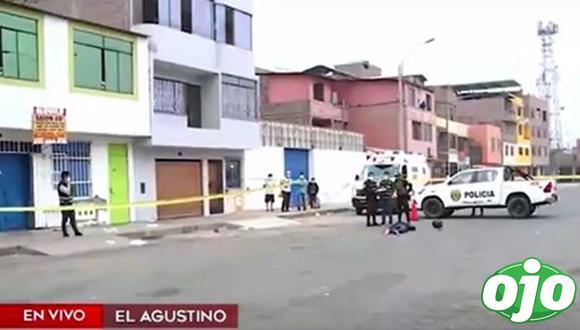 Presunto delincuente fue abatido en El Agustino. (Captura: América Noticias)