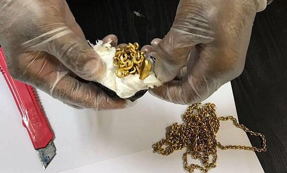 Hombre fue detenido en aeropuerto con oro escondido en zona íntima