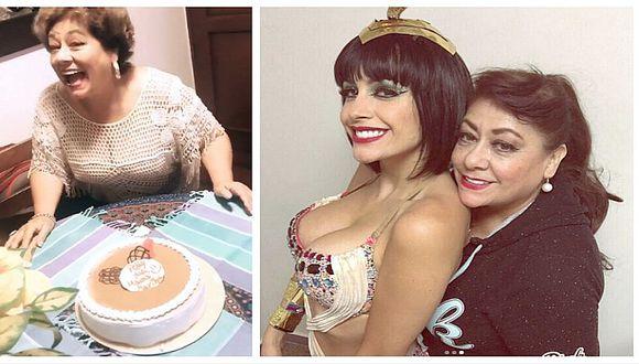 Milett Figueroa le celebra el cumpleaños a su mamita y publica fotos de su juventud