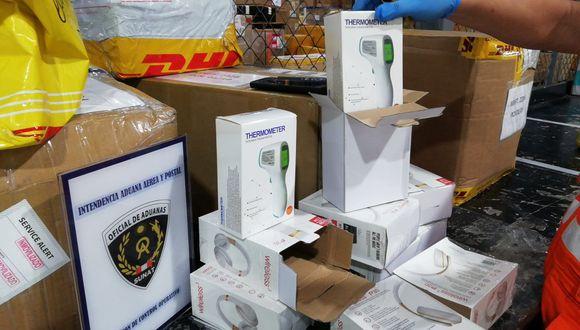 La Sunat informó se intentó pasar los termómetros como si fueran otra mercadería. (Foto: Sunat)