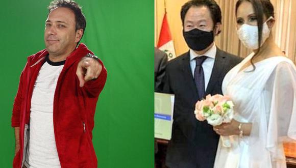 Fiel a su estilo, Carlos Galdós se pronunció sobre la boda de Kenji Fujimori. (Fotos: GEC/ Redes sociales)