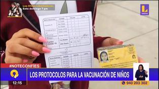 Conoce los protocolos para la vacunación de menores de edad
