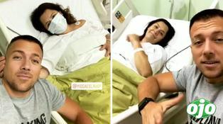 Yidda Eslava dio a luz a su segundo hijo y Julián Zucchi se mostró nervioso | VIDEO