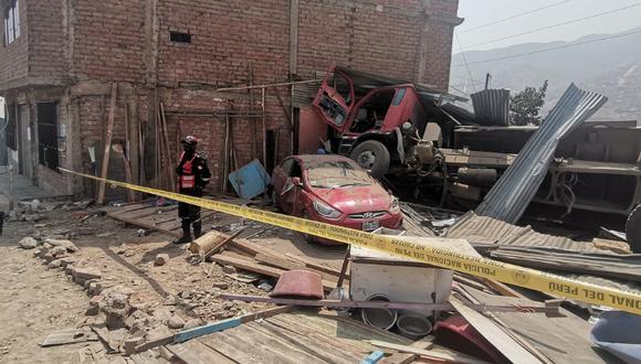 Cuatro heridos dejó un accidente en el AA.HH. Luz Divina, parte alta de El Progreso. Foto: Municipalidad de Carabayllo