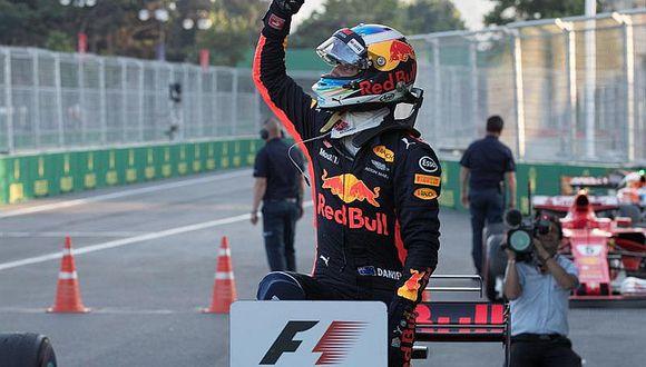 Fórmula 1: Daniel Ricciardo gana en caótico GP de Azerbaiyán