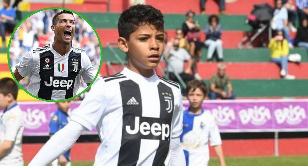 Hijo de Cristiano Ronaldo sigue sus pasos y mete siete goles en un partido (VIDEO)
