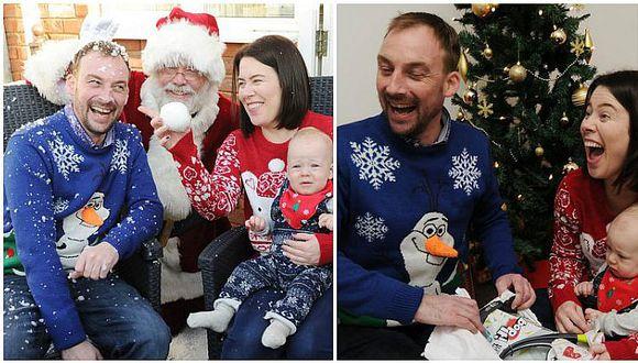 Navidad 2016: papá con cáncer terminal adelanta la Nochebuena por su bebé (FOTOS)