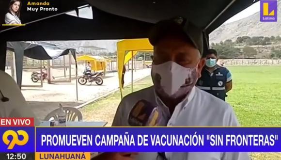 Gobernador Ricardo Chavarría afirmó que todos los trabajos los están haciendo en coordinación con el Ministerio de Salud. (Foto: captura | Latina)