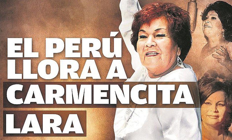Carmencita Lara murió a los 91 años en su casa de Comas