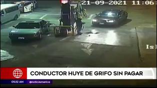 VTM: Conductor llena el tanque de su carro y escapa sin pagar