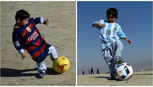 Lionel Messi: Niño afgano famoso por recbir camiseta deja Afganistán por amenazas