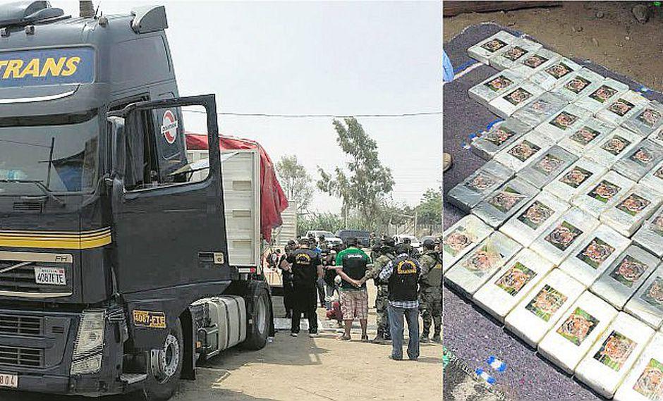 Pisco: media tonelada de droga es incautadas en dos camiones (FOTOS)