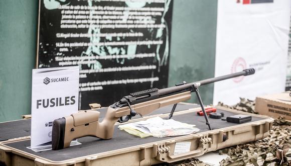 Este es uno de los fusiles incautados por la Sucamec fue donado a la Policía Nacional del Perú. (Foto: Sucamec)
